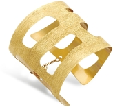 Stefano Patriarchi Golden Silver Etched Cut Out Small Cuff Bracelet