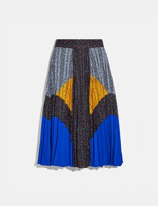 Coach Mix Pleated Skirt