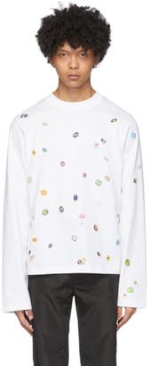 Botter White Fruit Stickers Long Sleeve T-Shirt