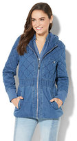 New York & Co. Quilted Denim Jacket