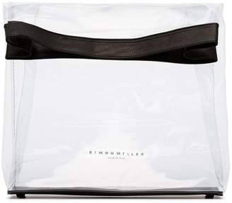 Simon Miller black and transparent lunchbag 30 PVC bag