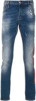 Philipp Plein logo print slim-fit jeans