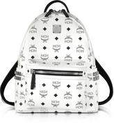 MCM Stark White Small Backpack