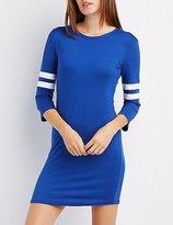Charlotte Russe Varsity Stripe Bodycon Dress