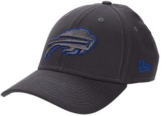 New Era NFL Stretch Fit Graphite 3930 -- Buffalo Bills (Graphite) Baseball Caps