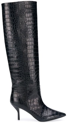 Semi-Couture Semicouture crocodile effect boots