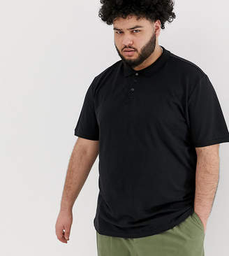 ONLY & SONS pique polo in black