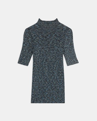 Theory Short-Sleeve Tee in Space Dyed Viscose