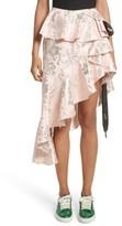 Marques Almeida Women's Marques'Almeida Asymmetrical Frilled Brocade Skirt