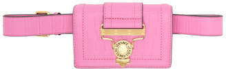 Versace Jeans Couture Pink Croc Salopette Buckle Belt Bag