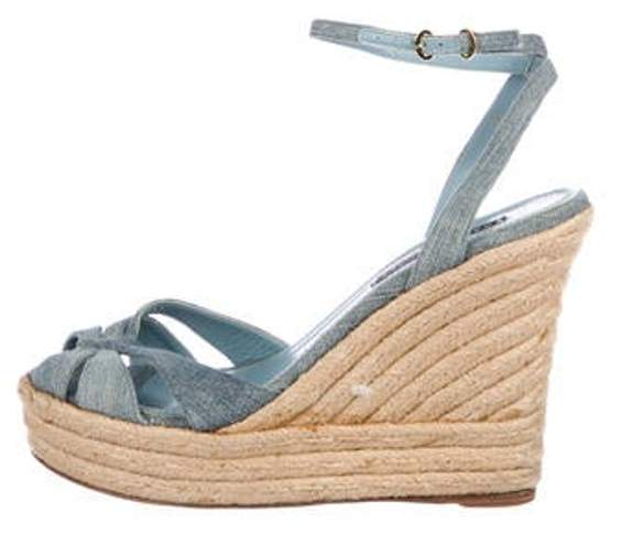 0231cffbe80 Denim Espadrille Wedges Blue Denim Espadrille Wedges