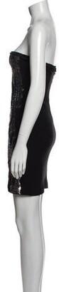 Blumarine Strapless Mini Dress Black