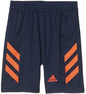 adidas Kids Pro Sport 3-Stripe Shorts (Toddler/Little Kids) (Navy/Orange) Boy's Shorts