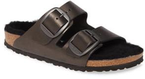 Birkenstock Perfect Pairs Arizona Big Buckle Sandal with Genuine Shearling Lining