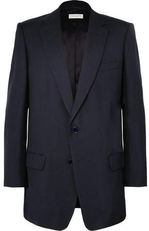 Dries Van Noten Navy Barlow Oversized Wool Blazer