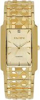 Elgin Mens Gold Tone Nugget Bracelet Watch Fg286Nb