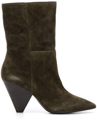 Ash structured-heel ankle boots