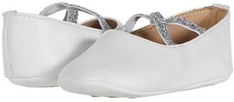 Elephantito Crossed Ballerina (Infant/Toddler) (White) Girl's Shoes