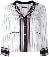 Equipment x Kate Moss striped shirt - women - Silk - M