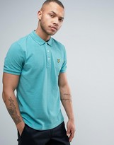 Lyle & Scott Pique Polo Regular Fit Eagle Logo In Green Marl