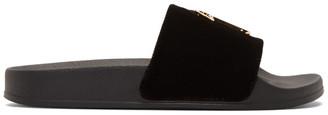 Giuseppe Zanotti Black Velvet Laburela 10 Sandals