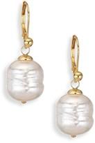 Majorica 12MM White Baroque Man-Made Pearl Drop Earrings