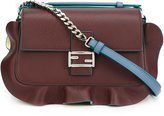 Fendi micro 'Double Baguette' crossbody bag - women - Suede/Leather - One Size