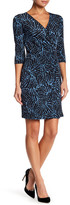Laundry by Shelli Segal Print V-Neck Dress (Petite)