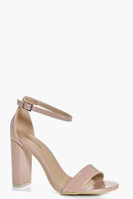 boohoo Block Heel Two Part Sandals