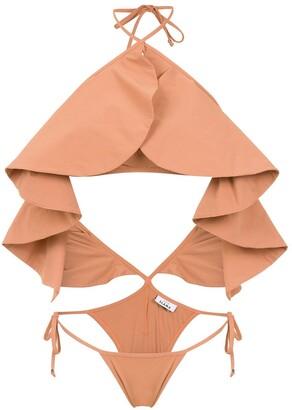 AMIR SLAMA Ruffled Swimsuit
