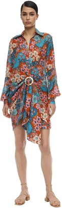 Dodo Bar Or Buckled Floral Printed Cotton Mini Dress