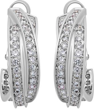 Cartier Estate Estate 18K White Gold Diamond Trinity Huggie Earrings