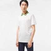 Paul Smith Men's White Cotton-Pique Contrast-Collar Polo Shirt