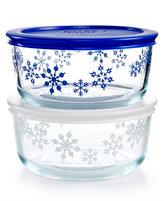Pyrex Snowflake 4-Pc. Storage Set