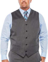 Jf J.Ferrar Pin Dot Classic Fit Suit Vest - Big and Tall