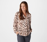 Lisa Rinna Collection Leopard Print Woven Blouse