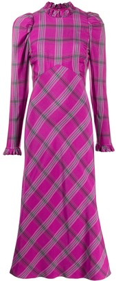 Temperley London Isobel checked midi dress