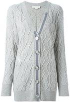 Stella McCartney distressed cable knit cardigan