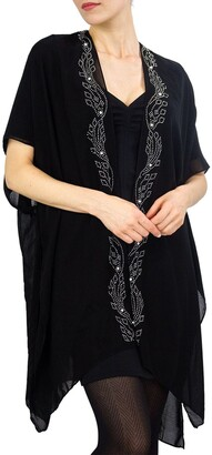 Just Jamie Solid Wavy Kimono