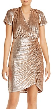 Aidan Mattox Ruched Sequinned Dress