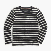 J.Crew Boys' long-sleeve pocket T-shirt in nautical stripe