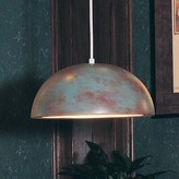 Islands Gran Inverted 1-Light Single Dome Pendant A19 Finish: Clay Acrylic