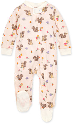 Burt's Bees Sharing Squirrels Organic Baby Zip Front Loose Fit Pajamas
