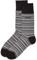 HUGO BOSS Stripe Mercerized Socks