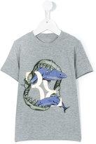 Billionaire Kids - shark print shirt - kids - Cotton/Spandex/Elastane - 2 yrs