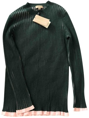 Burberry Green Cashmere Knitwear