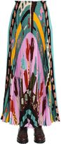 Valentino Counting 6 Printed Crepe De Chine Skirt