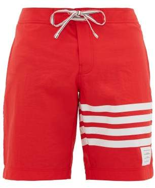 Thom Browne 4-bar Stripe Board Shorts - Mens - Red