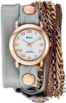 La Mer Women's LMMULTI4000-GLCREY Analog Display Japanese Quartz Grey Watch