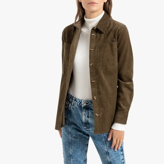 La Redoute Collections Corduroy Shirt with Long Sleeves and Pockets